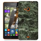 Skal till Lumia 535 - Marble - Grön/Svart