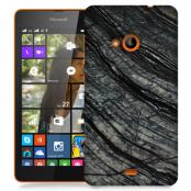 Skal till Lumia 535 - Marble - Svart/Grå
