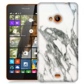 Skal till Lumia 535 - Marble - Vit/Grå