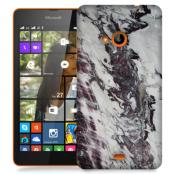 Skal till Lumia 535 - Marble - Vit/Svart