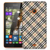 Skal till Lumia 535 - Rutig diagonal - Beige