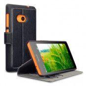 Slimmat Plånboksfodral till Microsoft Lumia 535 - Svart