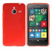 Flexicase Skal till Microsoft Lumia 640 XL - Röd
