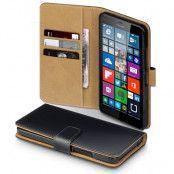 Plånboksfodral till Microsoft Lumia 640 XL - Svart/Brun