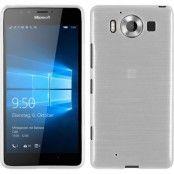 Brushed Flexicase Skal till Microsoft Lumia 950 - Vit