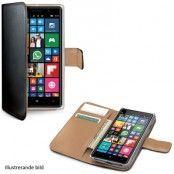 Celly Wallet Case till Microsoft Lumia 950 - Svart/Beige