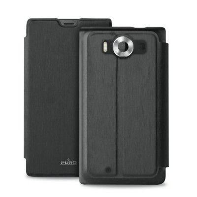 Puro Eco-Leather fodral till Microsoft Lumia 950 - Svart