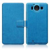 Slimmat Plånboksfodral till Microsoft Lumia 950 - Blå