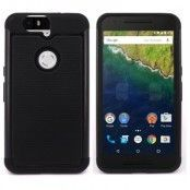 Combo Skal till Google Huawei Nexus 6P - Svart