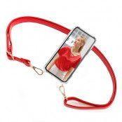 BOOM OF SWEDEN - Halsband mobilskal till OnePlus 8 - Strap Red