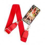 BOOM OF SWEDEN - Halsband mobilskal till OnePlus 6T - Belt Red