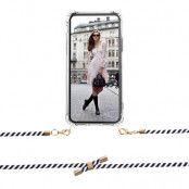 BOOM OF SWEDEN - Halsband mobilskal till OnePlus 6T - Rope BlackWhite