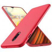 Twill Texture Flexicase Skal till OnePlus 6T - Röd