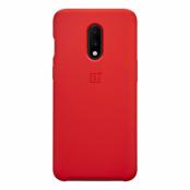 OnePlus Silicone Case för OnePlus 7 - Röd