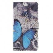 Plånboksfodral till Samsung Galaxy A3 (2016) - Blå Fjäril