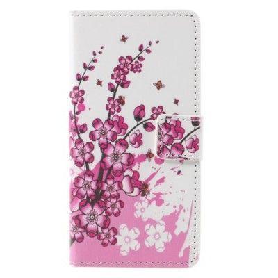 Plånboksfodral till Samsung Galaxy A3 (2016) - Lila Blommor