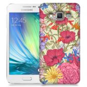 Skal till Samsung Galaxy A3 (2015) - Blommor - Beige