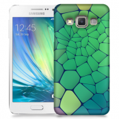 Skal till Samsung Galaxy A3 (2015) - Skifferstenar - Grön