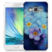 Skal till Samsung Galaxy A3 - Blå blommor