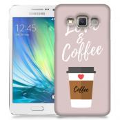 Skal till Samsung Galaxy A3 - I love coffe - Beige