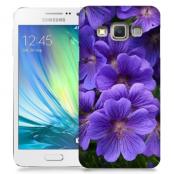 Skal till Samsung Galaxy A3 - Lila blommor