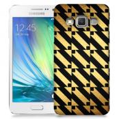 Skal till Samsung Galaxy A3 - Mönster - Guld/Svart