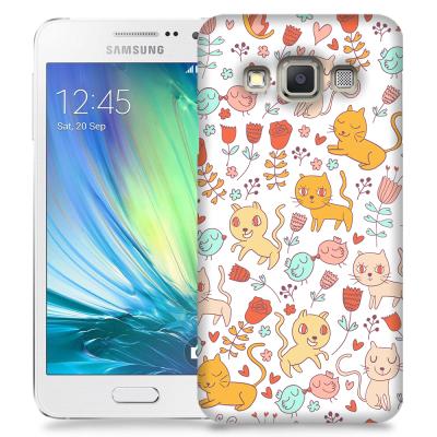 Skal till Samsung Galaxy A3 - Mönster - Kattunge