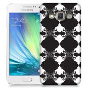 Skal till Samsung Galaxy A3 - Mönstrad tapet - Svart