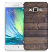 Skal till Samsung Galaxy A3 - Mörkbetsade plank