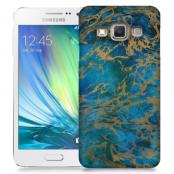 Skal till Samsung Galaxy A3 - Marble - Blå
