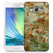 Skal till Samsung Galaxy A3 - Marble - Grön/Brun