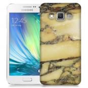 Skal till Samsung Galaxy A3 - Marble - Gul