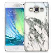 Skal till Samsung Galaxy A3 - Marble - Vit/Grå