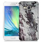 Skal till Samsung Galaxy A3 - Marble - Vit/Svart