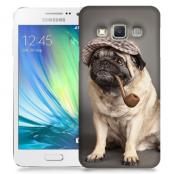 Skal till Samsung Galaxy A3 - Mops med keps