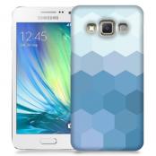 Skal till Samsung Galaxy A3 - Prismor - Blå