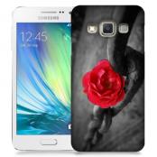 Skal till Samsung Galaxy A3 - Röd ros