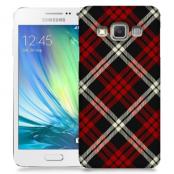 Skal till Samsung Galaxy A3 - Rutig - Röd