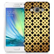 Skal till Samsung Galaxy A3 - Rutmönster - Guld/Svart