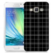 Skal till Samsung Galaxy A3 - Sömmar - Rutmönster Svart