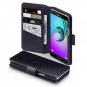 Plånboksfodral av äkta läder till Samsung Galaxy A5 2016 - Svart