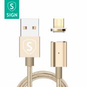 SiGN Magnetkabel USB-C 2.4A 1 m - Guld