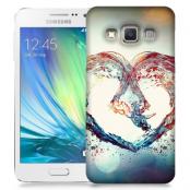 Skal till Samsung Galaxy A7 - Hjärta - Vatten
