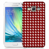 Skal till Samsung Galaxy A7 - Mönstrat tyg - Röd