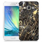 Skal till Samsung Galaxy A7 - Marble - Svart/Gul