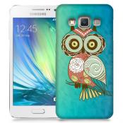 Skal till Samsung Galaxy A7 - Orientalisk uggla - Blå