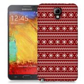 Skal till Samsung Galaxy Note 3 Neo - Juldekor - Röd/Vit