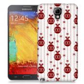 Skal till Samsung Galaxy Note 3 Neo - Juldekor - Vit/Röd