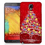 Skal till Samsung Galaxy Note 3 Neo - Julgran - Röd