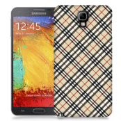 Skal till Samsung Galaxy Note 3 Neo - Rutig diagonal - Beige